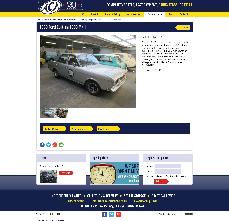 Anglia Car Auctions Classic Catalogue