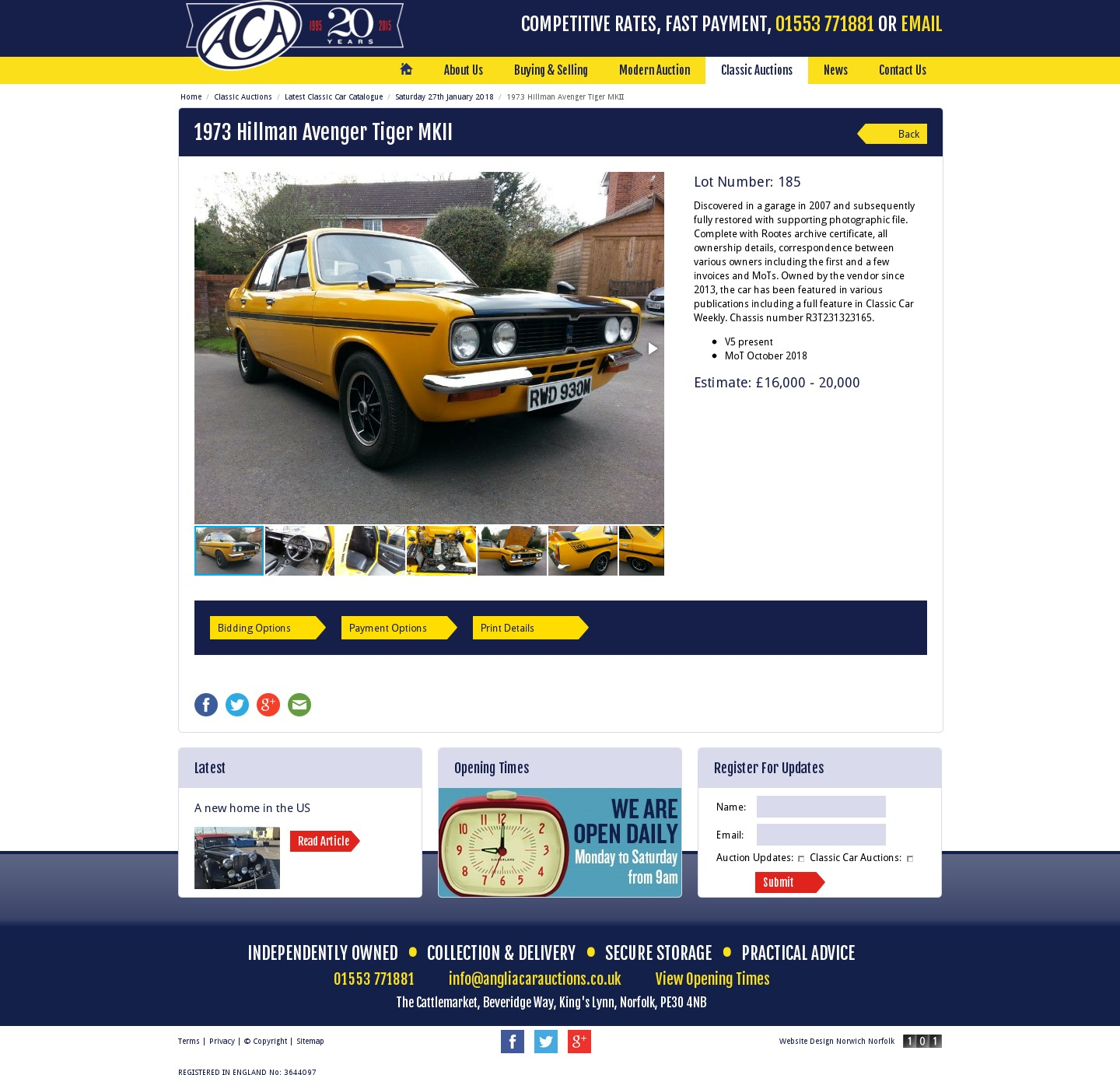 Classic Car Auctions Uk January
