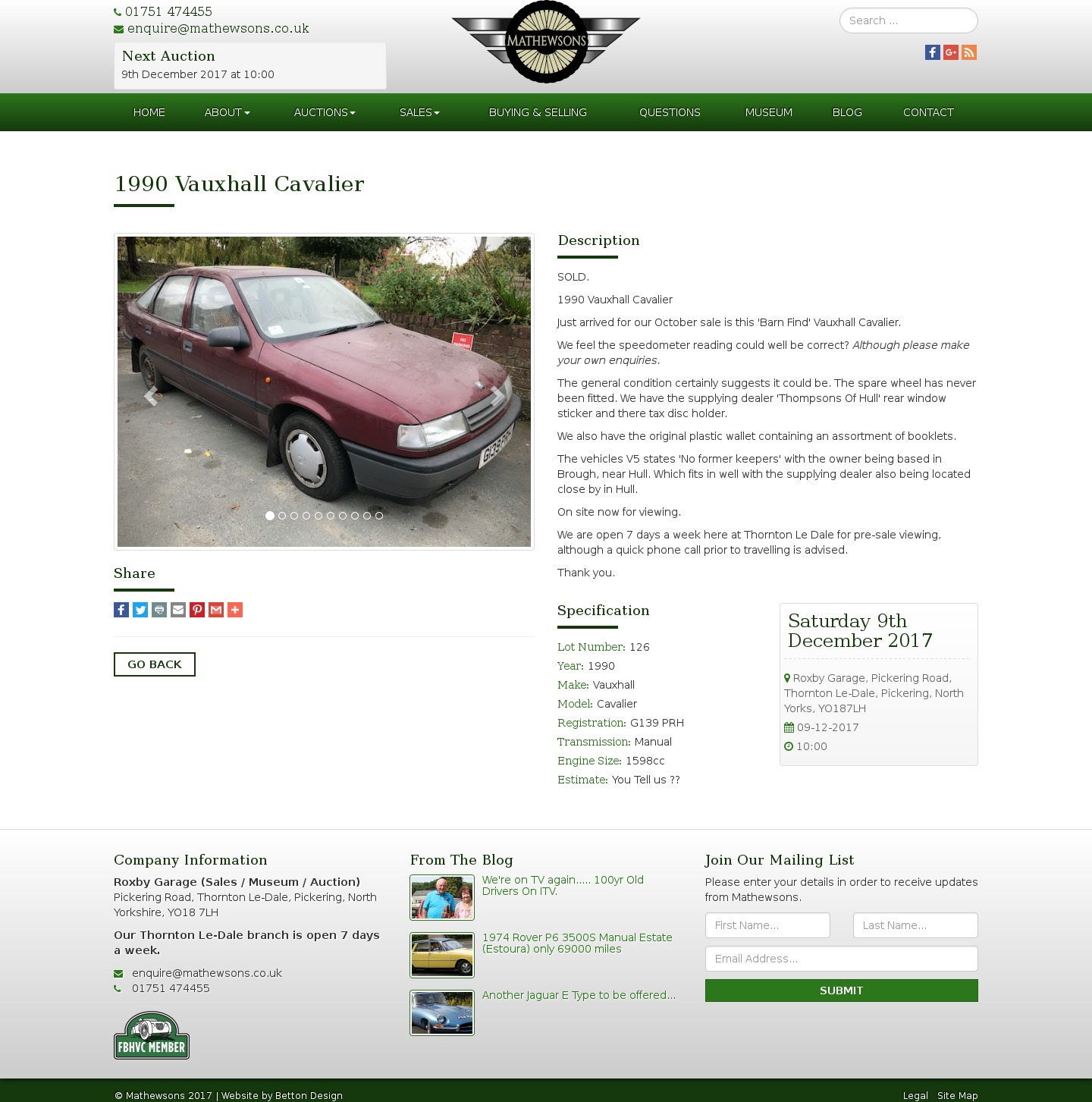 A Lot Of Cars >> Glenmarch: AuctionCars