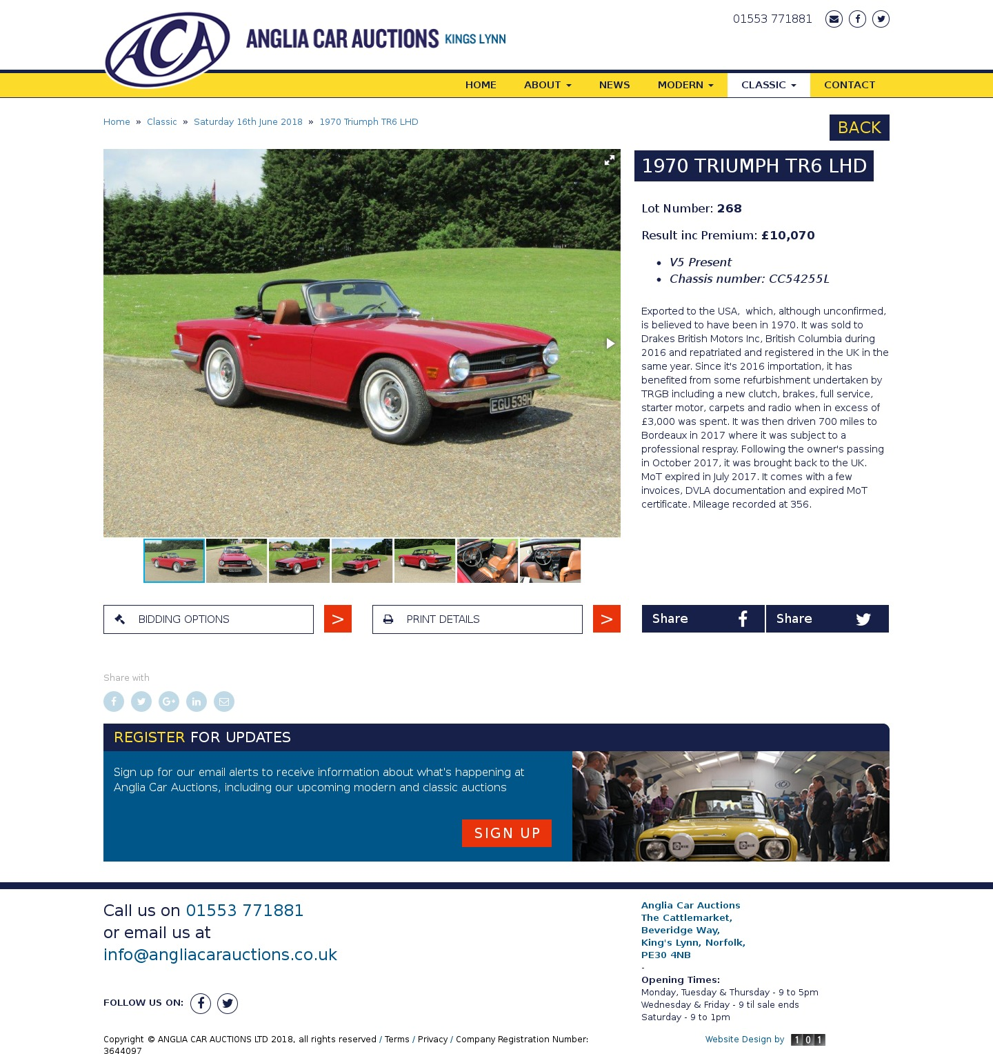 Classic Car Auctions Uk Results